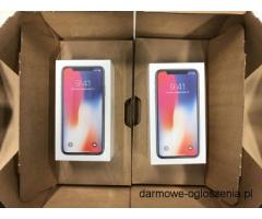 Apple iPhone X 64GB €800euro/256GB € 850 Euro Silver and Space grey